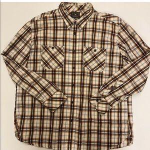 Lucky Brand Mens Collared Plaid Shirt Size 2XL